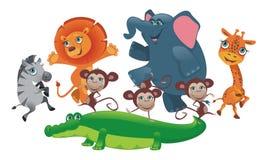 Partiafrikandjur stock illustrationer