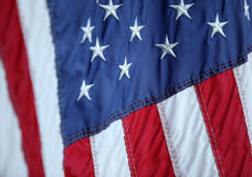 Partial american flag Royalty Free Stock Images