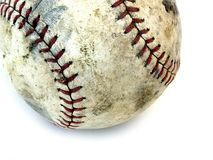 Partial ball. Isolated partial worn out base ball stock photography