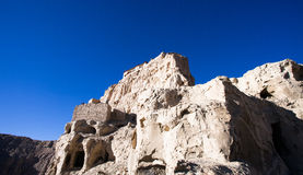 Partial bottom view of Guge ruins Royalty Free Stock Photo