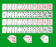 Partial deck of playing cards Stock Image