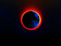 Partial eclipse Royalty Free Stock Photography