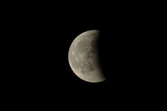 Partial Eclipse of the Moon Royalty Free Stock Images