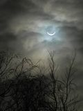 Partial eclipse. A partial eclipse of the sun over North Lincolnshire Stock Photography