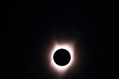 Partial Eclipse. This is A Total Solar Eclipse taken at Farewell Bend State Park Stock Photos