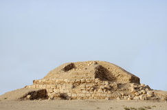 Partial excavated burial mound in Saar village Stock Photography