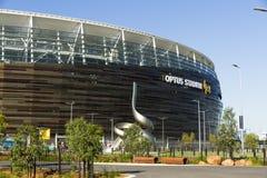 Optus Stadium. Partial exterior view of the newly opened Optus Stadium, located in Burswood, Perth, Western Australia Royalty Free Stock Photos