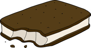 Partial Ice Cream Sandwich Stock Images
