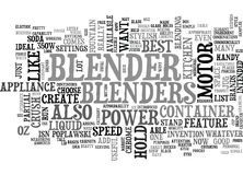 A Partial List Of The Best Blenders Word Cloud. A PARTIAL LIST OF THE BEST BLENDERS TEXT WORD CLOUD CONCEPT Royalty Free Stock Images