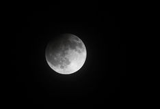 Partial Lunar eclipse on 25 April 2013 at 23:00:33, Bahrain Stock Photos