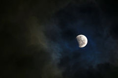 Partial lunar eclipse royalty free stock image