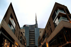 Partial panoramic view to Porta Nuova architecture. Stock Photography