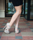 Partial of pretty shoes Stock Photos