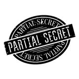 Partial Secret rubber stamp. Grunge design with dust scratches. Effects can be easily removed for a clean, crisp look. Color is easily changed Stock Photo