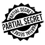 Partial Secret rubber stamp. Grunge design with dust scratches. Effects can be easily removed for a clean, crisp look. Color is easily changed Royalty Free Stock Images