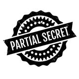 Partial Secret rubber stamp. Grunge design with dust scratches. Effects can be easily removed for a clean, crisp look. Color is easily changed Royalty Free Stock Image