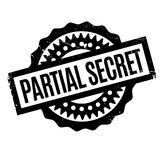 Partial Secret rubber stamp. Grunge design with dust scratches. Effects can be easily removed for a clean, crisp look. Color is easily changed Royalty Free Stock Photo