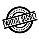 Partial Secret rubber stamp. Grunge design with dust scratches. Effects can be easily removed for a clean, crisp look. Color is easily changed Stock Images