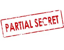 Partial secret. Rubber stamp with text partial secret inside,  illustration Royalty Free Stock Photography