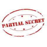 Partial secret. Rubber stamp with text partial secret inside,  illustration Stock Photography