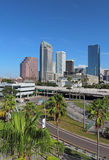 Partial skyline of Tampa, Florida vertical Royalty Free Stock Images