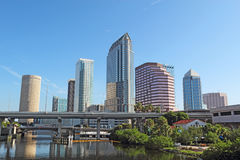 Partial skyline and USF Park in Tampa, Florida Royalty Free Stock Image