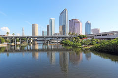 Partial skyline and USF Park in Tampa, Florida Stock Images