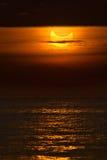Partial solar eclipse. Catalonia - January 4: Partial solar eclipse during sunrise January 4, 2011 in Catalonia Stock Photo