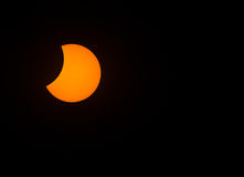 Partial Solar Eclipse on August 21, 2017 Stock Image