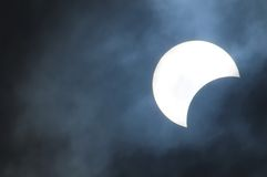 Partial Solar Eclipse Royalty Free Stock Photo