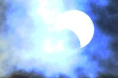 Partial Solar Eclipse Royalty Free Stock Photos