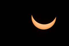 Partial solar eclipse Royalty Free Stock Image