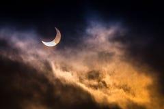 Partial Solar Eclipse. stock photos