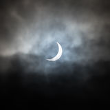 Partial Solar Eclipse - 20th February 2015 - North Yorkshire - UK Stock Photo