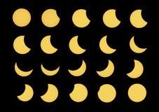 Partial solar eclipse stock photos
