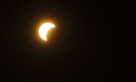 Partial Sun eclipse Stock Photos
