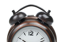 Partial view of alarm clock Royalty Free Stock Image