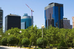 Partial view of Azca, Madrid Royalty Free Stock Photos