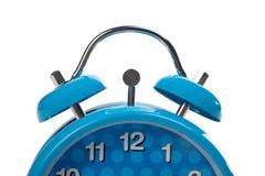 Partial view of blue alarm clo stock photo