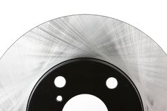Partial view of a brake disc Royalty Free Stock Photography