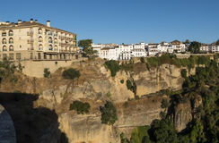 Partial view of the city of Ronda, monumental town, Malaga, Spai Royalty Free Stock Photo