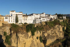 Partial view of the city of Ronda, monumental town, Malaga, Spai Stock Photos