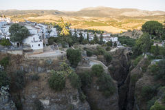 Partial view of the city of Ronda, monumental town, Malaga, Spai Royalty Free Stock Photography