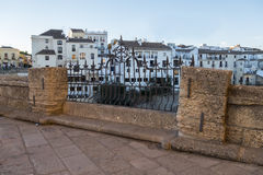 Partial view of the city of Ronda, monumental town, Malaga, Spai Stock Images