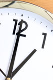 Partial view of the clock. Royalty Free Stock Images