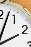 Partial view of the clock. Royalty Free Stock Image