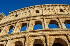 Partial view of Coliseum ruins. Italy, Rome. Royalty Free Stock Photo