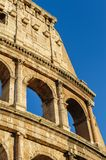 Partial view of Coliseum ruins. Italy, Rome. Royalty Free Stock Image