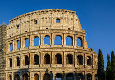 Partial view of Coliseum ruins. Italy, Rome. Stock Image
