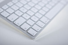 Partial View of a Computer Keyboard. Horizontal Image Stock Image